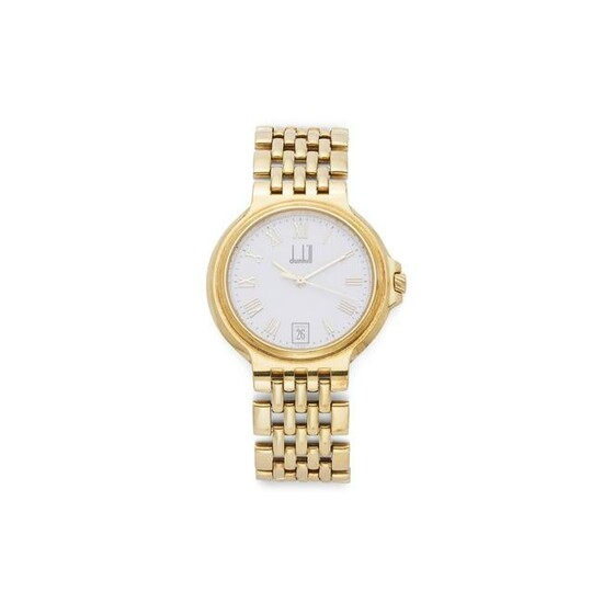 An 18ct gold wristwatch, by Dunhill