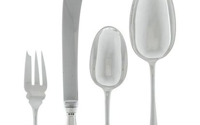 An English Silver Flatware Service