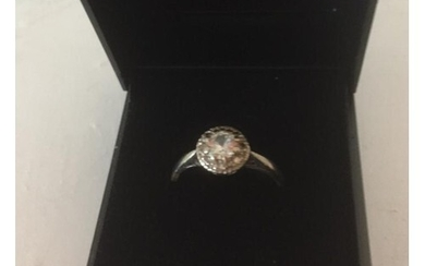 Antique 18ct yellow gold diamond ring with a full 1/3 carat ...