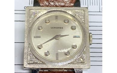 Art Deco Longines watch made for the American market in whit...