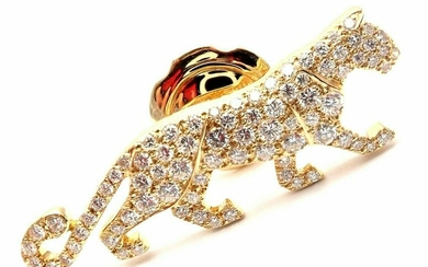 Authentic! Cartier Panther Panthere 18k Yellow Gold All