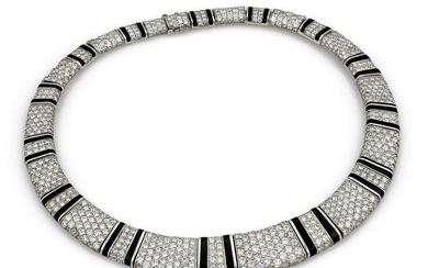 Bernard Passman 44ct Diamond and Black Coral Necklace