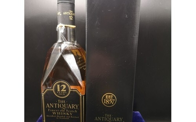 Bottle 12 year old The antiquary the finest scotch whisky 43...