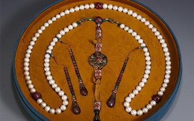 CHINESE PEARL BEAD CHAOZHU COURT NECKLACE