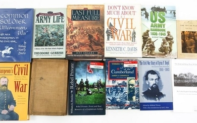 CIVIL WAR AND US HISTORY BOOK LOT OF 12