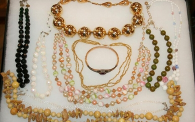COSTUME JEWELRY NECKLACES, BRACELET