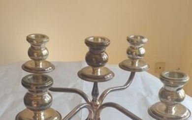 Candelabrum, English style - .800 silver - Italy - Late 20th century
