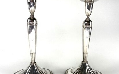 Candlestick, Candlesticks (2) - .800 silver - France - Early 19th century