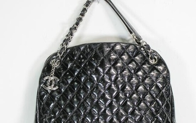 Chanel Chain Shoulder Bag in Quilted Patent Leather