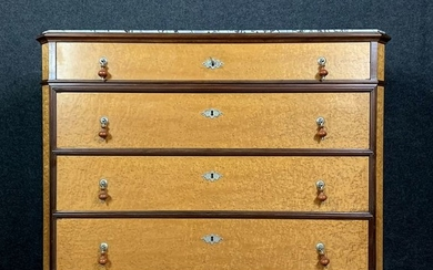 Chest of drawers in light maple and rosewood - Charles X style - Wood - Late 19th century