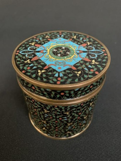 Chinese Export Islamic Cloisonne Covered Box