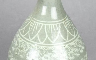 Chinese Grey Glaze Porcelain Vase
