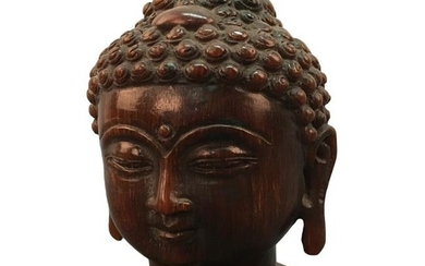 Chinese Ox-Horn Buddha Head