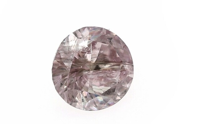An unmounted brilliant-cut diamond weighing 0.27 ct. Colour Fancy Light Greyish Pink, Natural. – Bruun...