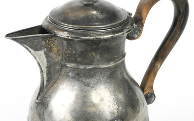 Continental .800 standard silver teapot fitted with a wood handle