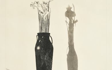 DAVID HOCKNEY, R.A.   VASE AND FLOWERS (SCOTTISH ARTS COUNCIL 69; MUSEUM OF CONTEMPORARY ART TOKYO 66)