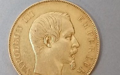 FRANCE. 50 gold francs 1855 Napoleon III. Weight...