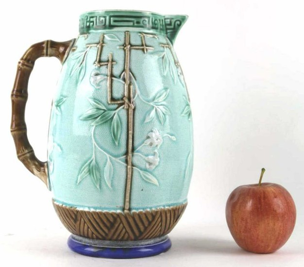 FRENCH ANTIQUE MAJOLICA PITCHER