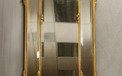 FRENCH STYLE GILT GESSO & CARVED WOOD PIER MIRROR