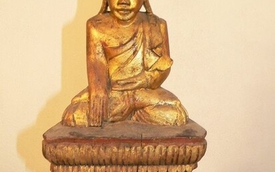 Figure - Wood - Buddha - Burma - Early 20th century