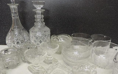 Four Georgian Glass Wine Glass Rinsers, Collection of Boat...