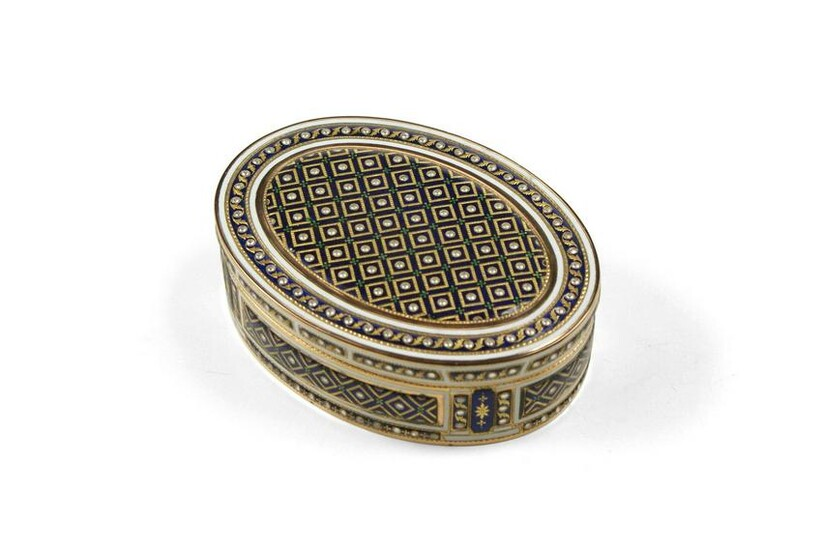 French Gold and Enamel Box