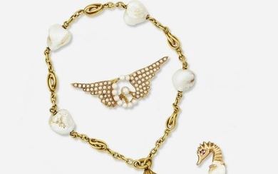 Freshwater and seed pearl jewelry