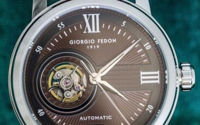 Giorgio Fedon - Automatic PCQ Stainless Steel Brown Leather Strap - GFCQ002 - Men - 2011-present