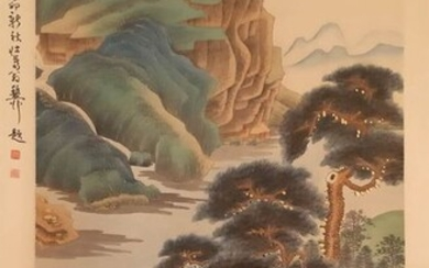 Ink painting - Rice paper - 《张大千-山水》Madeafter Zhang Daqian - China - Second half 20th century