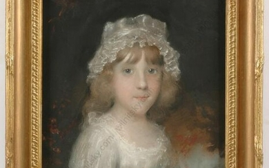 """John Russel (1745-1806) """"Portrait of a young girl"""""""