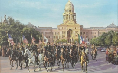 KENNETH TURNER 'PARADE OF TEXAS LEGENDS' GICLEE