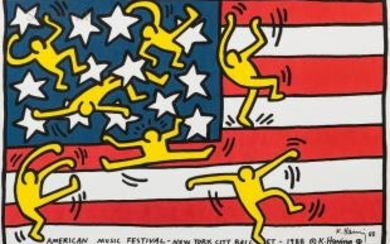 Keith Haring (American, 1958-1990) American Music Festival - New York City Ballet
