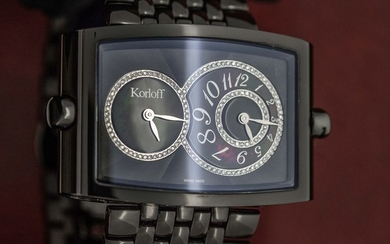 Korloff - Diamonds 0.54 Carat Two Time Zones Mother of Pearl Limited Edition Swiss Made - DT52B/399 - Unisex - BRAND NEW