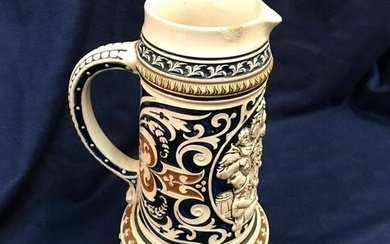 Large Vintage German Pottery Beer Stein