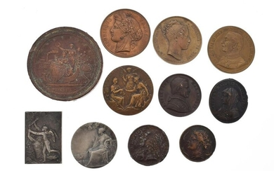 Lot of 11 various medals in gold or silver bronze