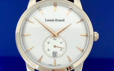 """Louis Erard - Heritage Collection Small Seconds White Dial Brown Strap Swiss Made- 16930AA10.BEP101 """"NO RESERVE PRICE"""" - Men - Brand New"""