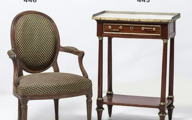 Louis XVI style side table with marble top