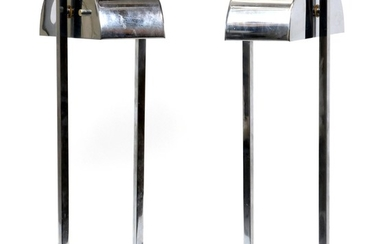 MODERN TABLE LAMPS PAIR 21 9.25
