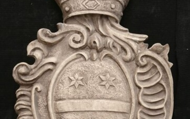 Magnificent Venetian Heraldic Coat of Arms - 61 x 39 cm - Marble of Istria - Late 19th century / early 20th century approx