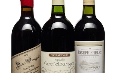 Mixed California, Joseph Phelps, Eisele Vineyard Cabernet Sauvignon 1985 Good appearance Levels four into neck and one base of neck (5) 1991 Good appearance Level into neck (1) Dunn, Howell Mountain Cabernet Sauvignon 1986 Good appearance Levels into...