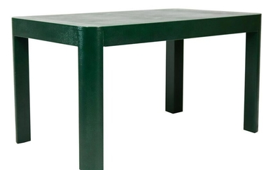 Modern Green Faux Shagreen Writing Table