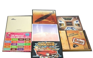 Music LP and CD box sets; Thirteen to include Led Zeppelin, The Beatles etc.