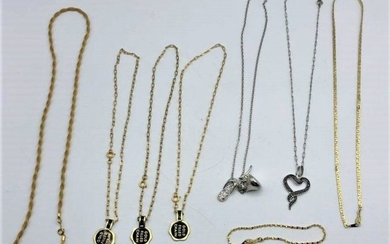 Nine [9] Assorted Gold Filled Chains and Bracelets