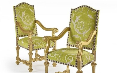 PAIR OF LOUIS STYLE ARMCHAIRS XIV