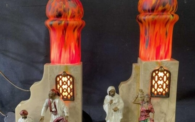Pair Middle Eastern Style Table Lamps, Germany