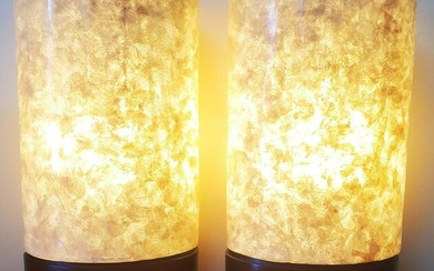 Pair of 80's Fiber Glass Table lamps tall