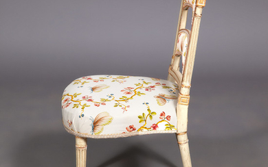 Pair of George III Painted and Parcel-Gilt Side Chairs