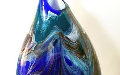 Paolo Crepax - Large abstract vase (52 cm) - Glass