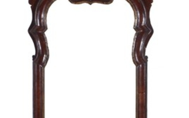 Queen Anne style carved mahogany pier mirror