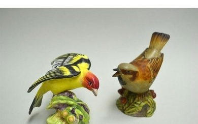 ROYAL WORCESTER WESTERN TANAGER AND SPARROW BIRDS